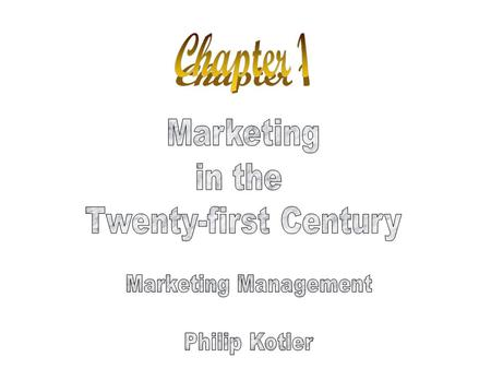Objectives Course Organization Tasks of Marketing Major Concepts & Tools of Marketing Marketplace Orientations Marketing's Responses to New Challenges.