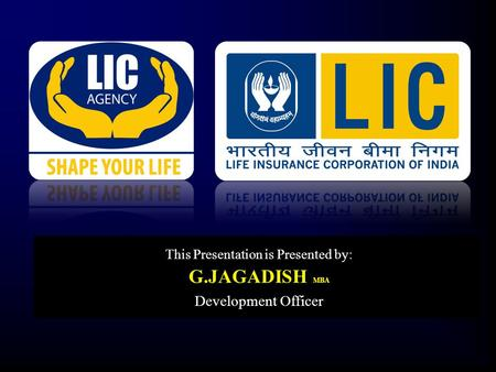 V This Presentation is Presented by: G.JAGADISH MBA Development Officer.