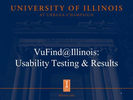 Usability Testing & Results 1. Usability & Feedback: An Overview Asked for Feedback Survey Formal Usability testing 2.