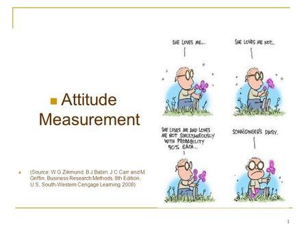 1 Attitude Measurement (Source: W.G Zikmund, B.J Babin, J.C Carr and M. Griffin, Business Research Methods, 8th Edition, U.S, South-Western Cengage Learning,
