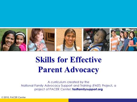 Skills for Effective Parent Advocacy