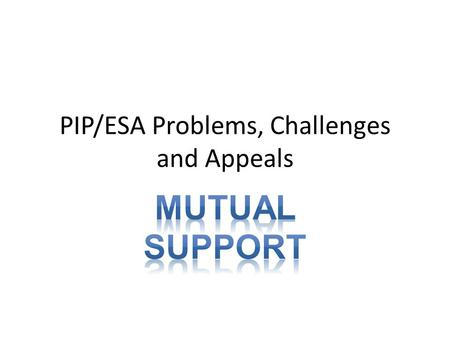 PIP/ESA Problems, Challenges and Appeals. Receiving The Decision Decisions on entitlement to benefit are made by a DWP Decision Maker (called Case Managers.
