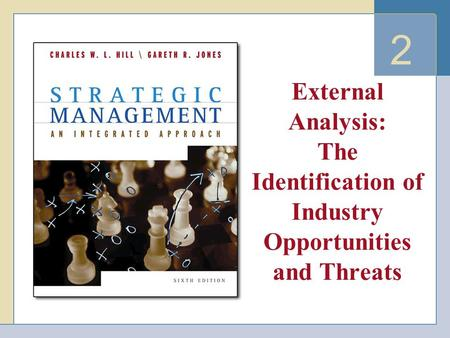 2 External <strong>Analysis</strong>: The Identification of Industry Opportunities and Threats.