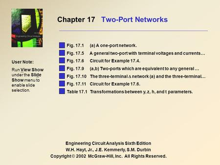 Chapter 17 Two-Port Networks