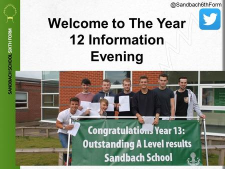 1 Welcome to The Year 12 Information