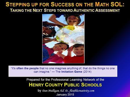 Stepping up for Success on the Math SOL: