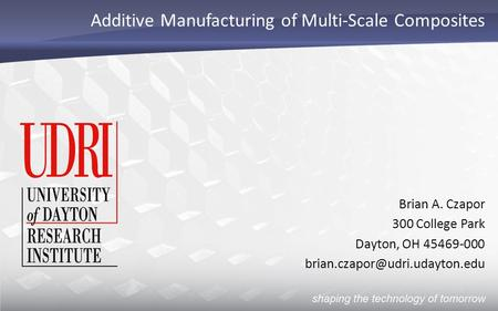 Additive Manufacturing of Multi-Scale Composites