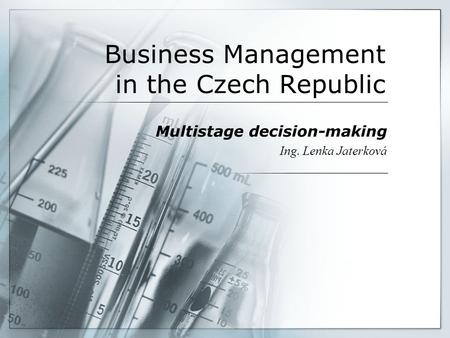 Business Management in the Czech Republic