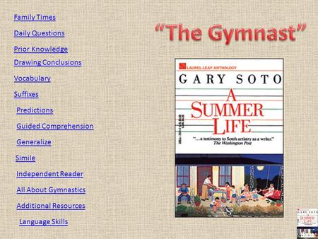 """The Gymnast"" Family Times Daily Questions Prior Knowledge"