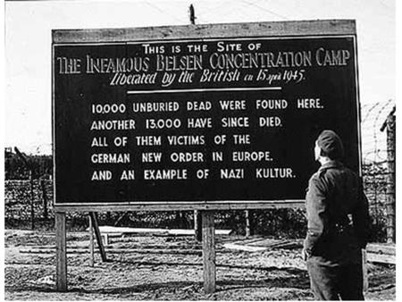 Bergen-Belsen was one of the most notorious concentration camps of the Second World War. It became a camp for those who were too weak or sick to work.