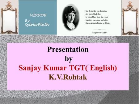 Sanjay Kumar TGT( English)