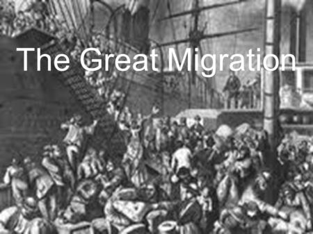 The Great Migration. Immigration After the War of 1812, Britain wanted to open up the backwoods to farming They wanted to fill the colonies with people.