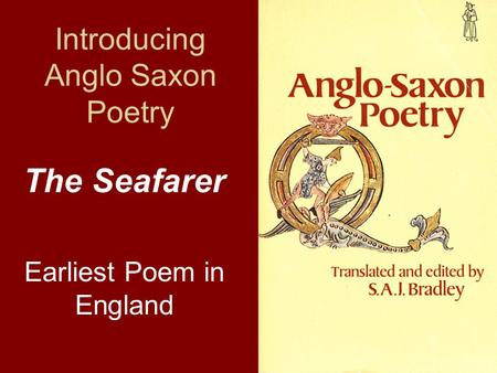 an analysis of anglo saxon literature Anglo-saxon literature, such as epic poems, also show the influence of christianity and how they presented their beliefs through writing after reading these samples of anglo-saxon literature, there is an apparent christian versus pagan undertone.