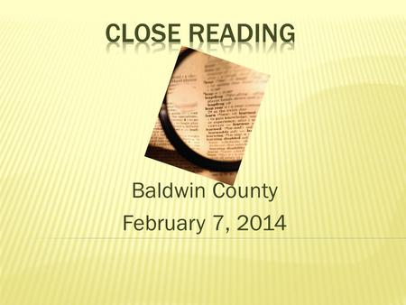 Baldwin County February 7, 2014