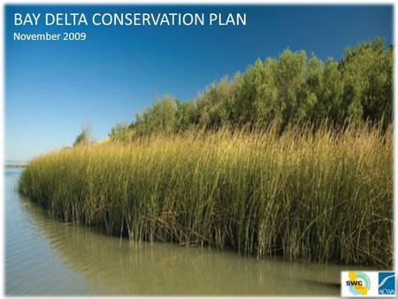 BAY DELTA CONSERVATION PLAN November 2009. Delta In Crisis 25 million people, farms and businesses in Northern, Central and Southern California depend.