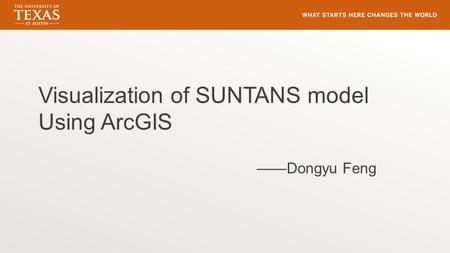 Visualization of SUNTANS model Using ArcGIS ——Dongyu Feng.