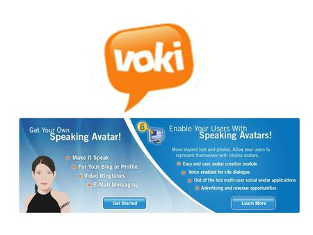 What is Voki? Voki enables users to express themselves on the web in their own voice using a talking character. Voki has come from a combination of 'vox',