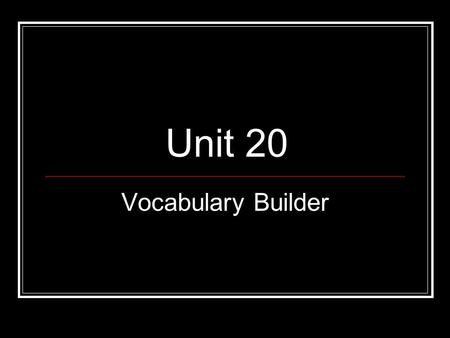 "Unit 20 Vocabulary Builder. NOM = Name Latin A nominee is ""named"" or nominated to run or serve in office. Words to know: ignominious, misnomer, nomenclature,"