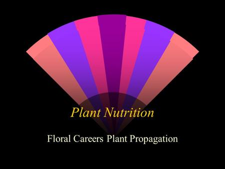 Plant Nutrition Floral Careers Plant Propagation.