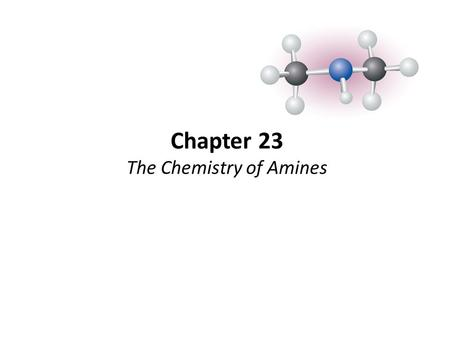 Chapter 23 The Chemistry of Amines