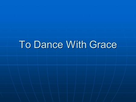 To Dance With Grace. Outreach & Engagement To Drug Users On The Street.