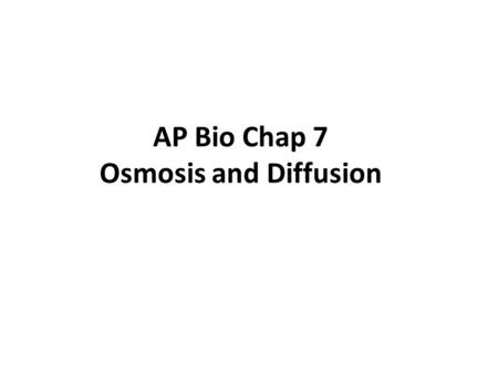 AP Bio Chap 7 Osmosis and Diffusion. So, how does a membrane regulates what goes in and out? Depends on: 1)Lipid solubility - Hydrophobic molecules, such.