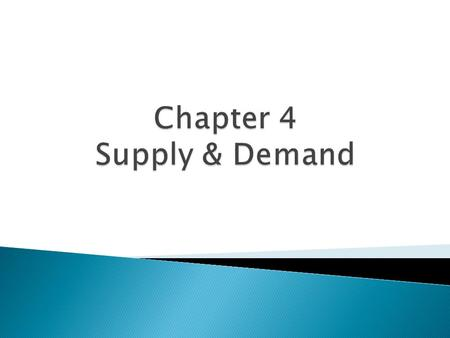  Supply & Demand is really a theory on how buyers and sellers interact with one another, and how prices are determined.