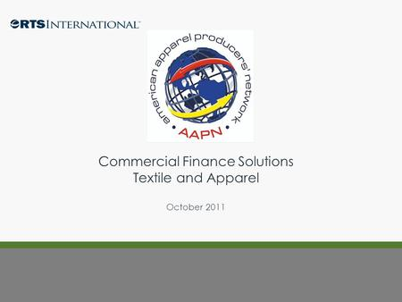 Commercial Finance Solutions Textile and Apparel October 2011.