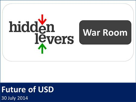 Future of USD 30 July 2014 War Room. HiddenLevers War Room Open Q + A Macro Coaching Archived webinars CE Credit Idea Generation Presentation deck Product.