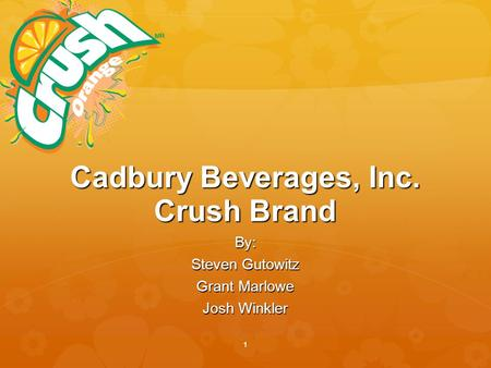 cadbury beverages case Cadbury beverages inc case study - marketing essay example marketing plan 1 - cadbury beverages inc case study introduction.