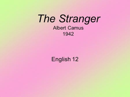 the punishable acts of meursault in the stranger by albert camus The stranger theme of passivity  meursault acts not for good reason,  we note that this calm young reporter represents either meursault or albert camus.