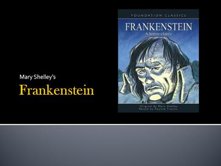 second letter frankenstein