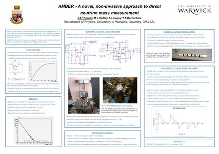 AMBER - A novel, non-invasive approach to direct neutrino mass measurement J.A.Thornby, M.J.Hadley, A.Lovejoy, Y.A.Ramachers Department of Physics, University.