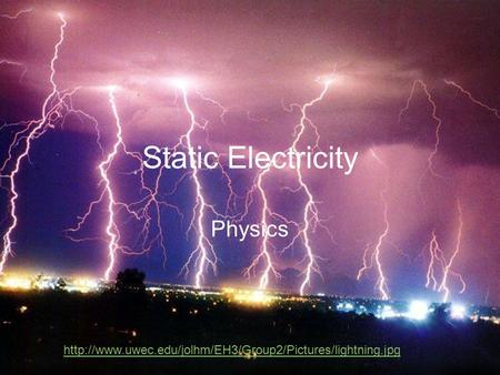 Static Electricity Physics
