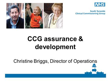 CCG assurance & development