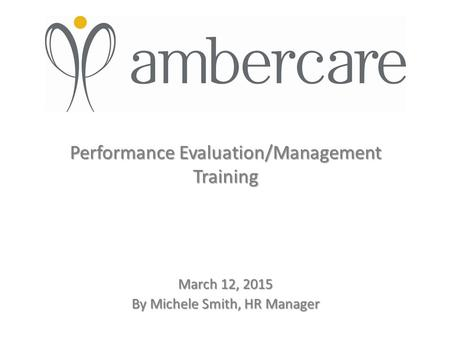 Performance Evaluation/Management Training
