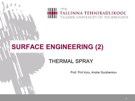 SURFACE ENGINEERING (2)