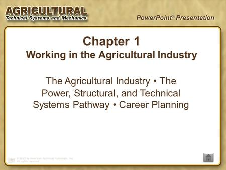 Working in the Agricultural Industry