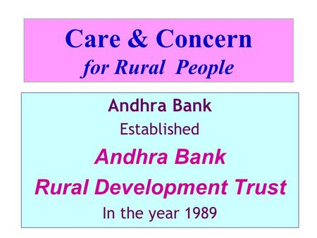 Care & Concern for Rural People