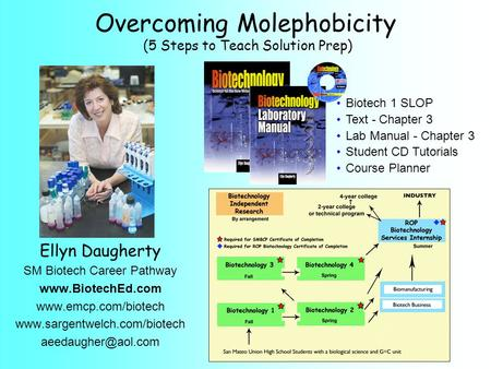 Ellyn Daugherty SM Biotech Career Pathway    Biotech 1 SLOP Text -