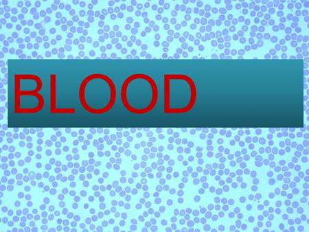 BLOOD. Plasma Red blood cell White blood cell Platelets.
