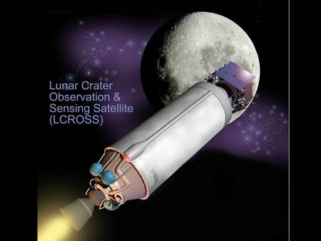 LCROSS Our latest mission to the surface of the Moon. Developed and managed by NASA Ames Research Center in partnership with Northrop Grumman. Goal: to.