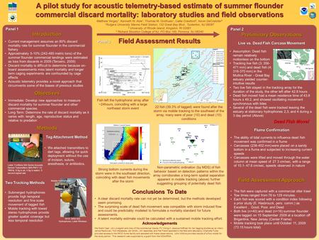 A pilot study for acoustic telemetry-based estimate of summer flounder commercial discard mortality: laboratory studies and field observations Field Assessment.
