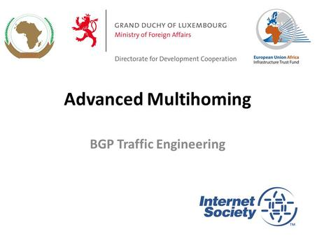 Advanced Multihoming BGP Traffic Engineering 1. Service Provider Multihoming Previous examples dealt with loadsharing inbound traffic – Of primary concern.