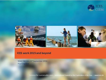 ICES work 2015 and beyond NSAC EXCOM 23 rd September 2014 Poul Degnbol.