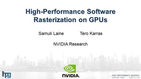 High-Performance Software