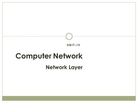 UNIT-IV Computer Network Network Layer. Network Layer Prepared by - ROHIT KOSHTA In the seven-layer OSI model of computer networking, the network layer.
