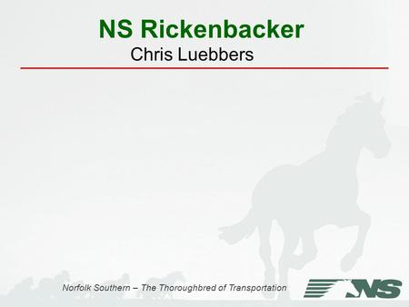 NS Rickenbacker Norfolk Southern – The Thoroughbred of Transportation Chris Luebbers.