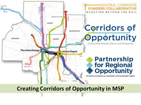 Creating Corridors of Opportunity in MSP. Intro to the MSP experience Setting the Stage for Success: Vision & Tools Game Time: Surviving Construction.