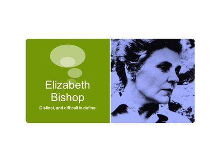 elizabeth bishops the fish